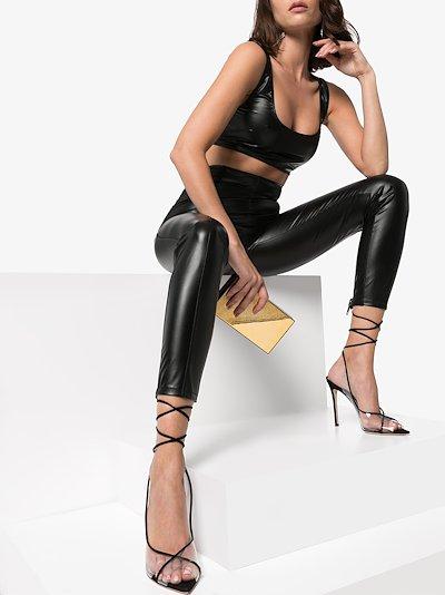 Karlie high waist faux leather leggings