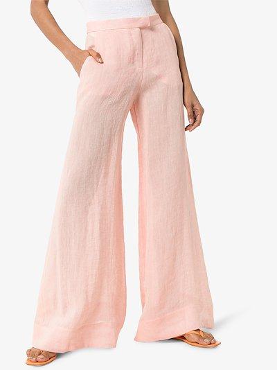 linen wide leg trousers