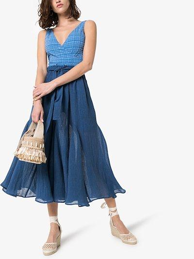 Marguerite organic linen blend midi skirt