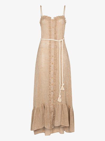 ruffled button-down maxi dress