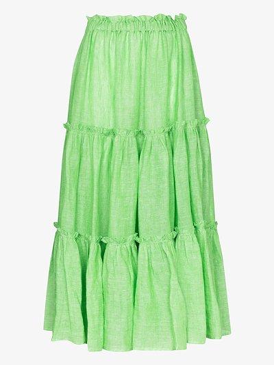 tiered peasant midi skirt
