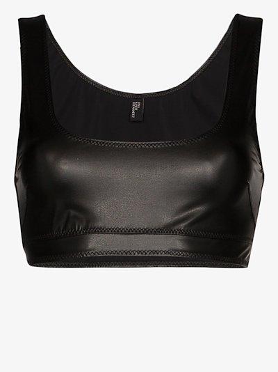 Zani faux leather crop top