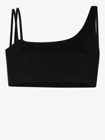 Crescent asymmetric sports bra