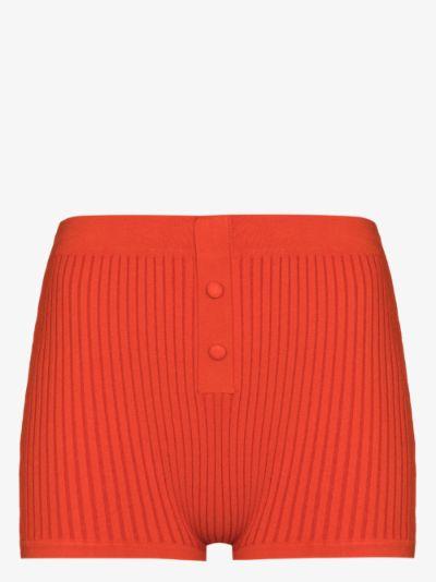 knitted high waist shorts