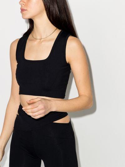 Transcend square neck sports bra