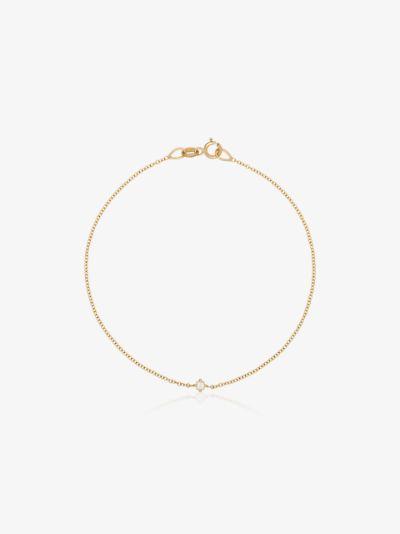 14K Yellow Gold floating diamond bracelet