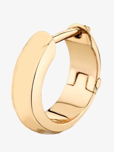 18K yellow gold hoop earring