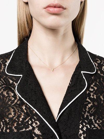 18K yellow gold single kite diamond necklace