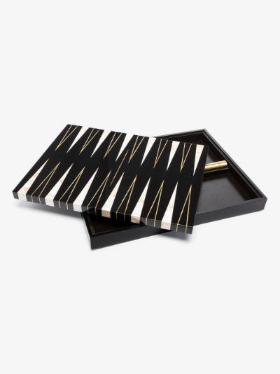 black marble backgammon set