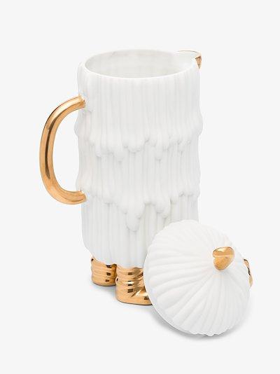 X Haas Brothers white Djuna coffee pot