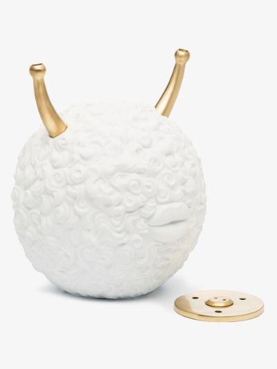 X Haas Brothers white Monster Ball porcelain incense burner