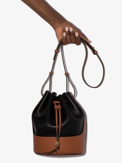 Black Balloon leather bucket bag