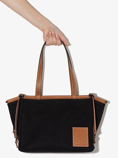 black Cushion canvas tote bag