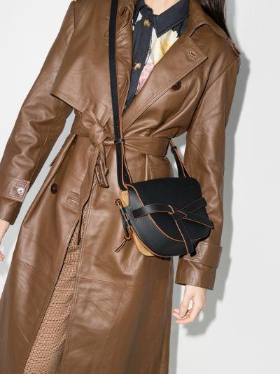 black Gate small leather cross body bag