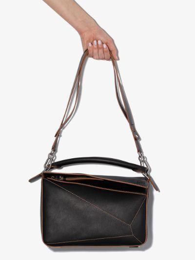 black Puzzle medium leather shoulder bag