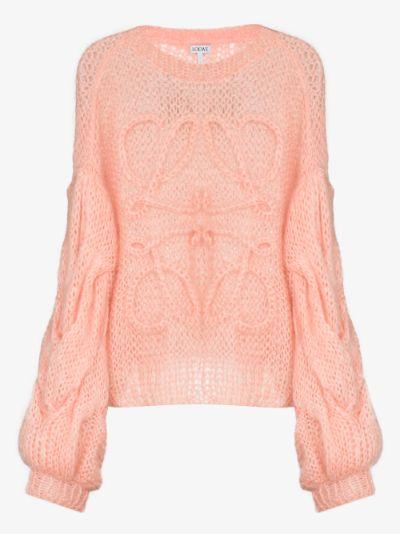 Boat neck bishop sleeve sweater