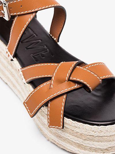 brown 75 wedge espadrille sandals