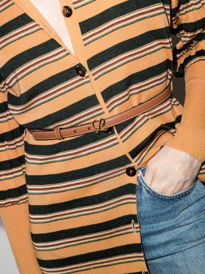 brown Anagram leather belt