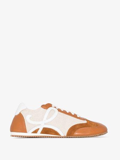 Brown Ballet Runner Leather Sneakers