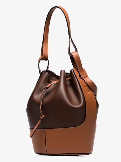 Brown Balloon large leather bucket bag