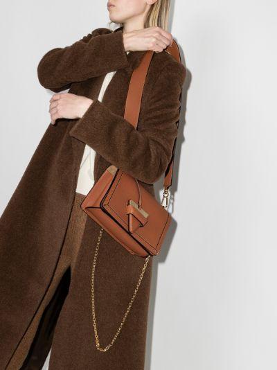 brown Barcelona leather shoulder bag