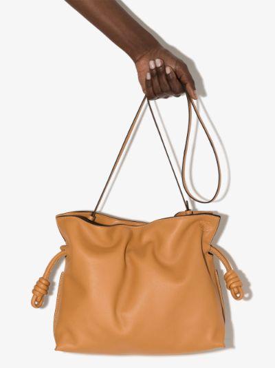 Brown Flamenco clutch bag