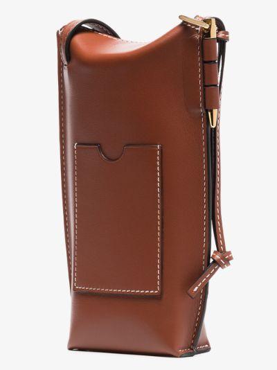 brown Gate Pocket leather cross body mini bag