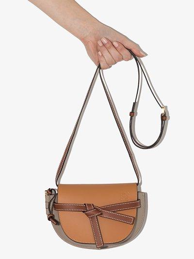 brown Mini Gate leather cross body bag
