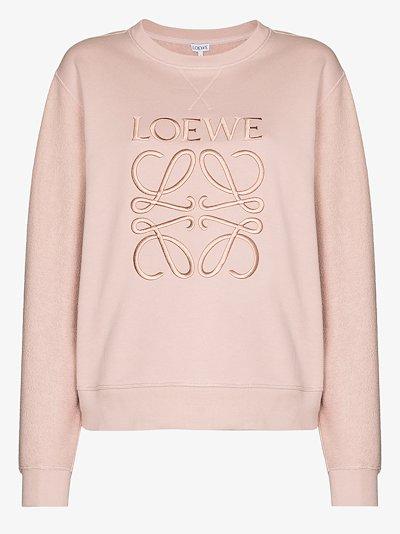 logo embroidered cotton sweatshirt