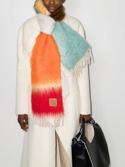 multicoloured striped scarf