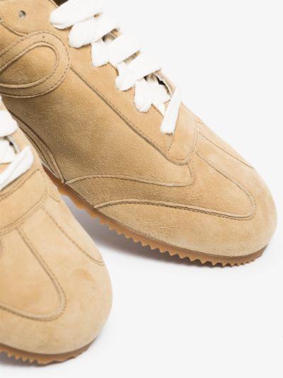 neutral Ballet Runner suede sneakers