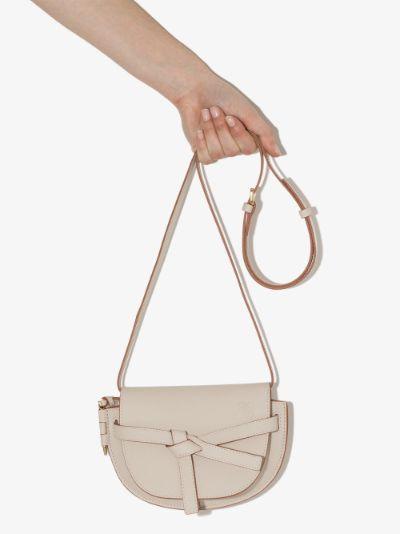 neutral Gate Mini Leather Cross Body Bag
