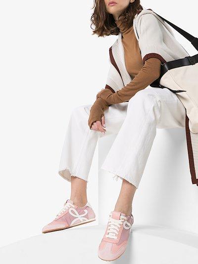 pink Ballet Runner Suede Sneakers