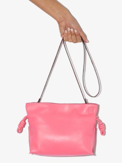pink Flamenco mini leather clutch bag