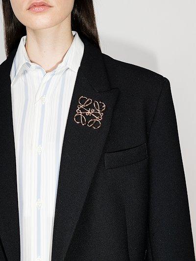 Rose gold tone Anagram brooch