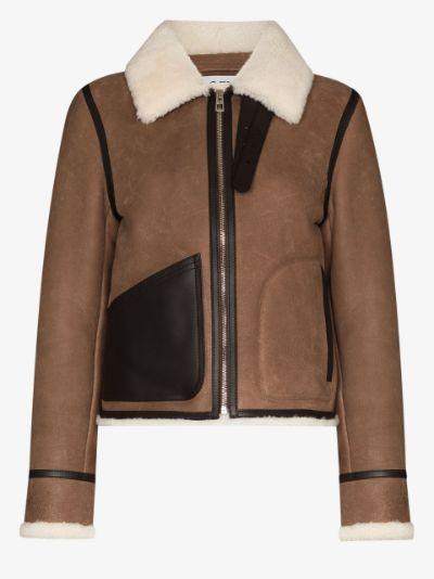 shearling aviator jacket