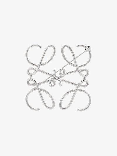 Silver tone Anagram brooch