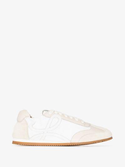 white Ballet Runner suede sneakers
