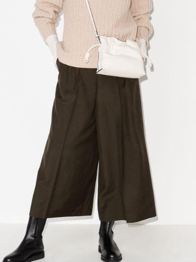 white Flamenco mini leather clutch bag