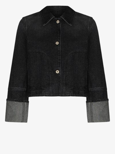 wide cuff denim jacket