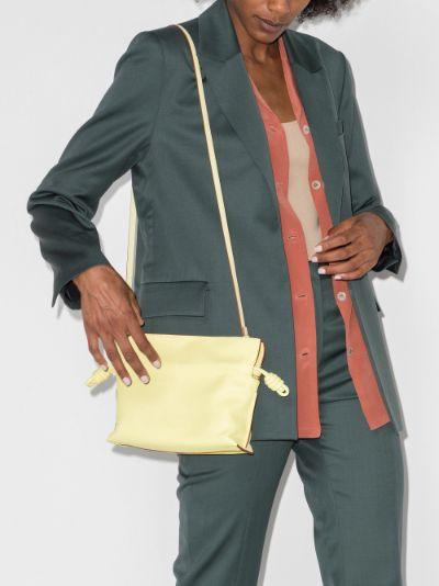 Yellow Flamenco Mini Leather Clutch Bag