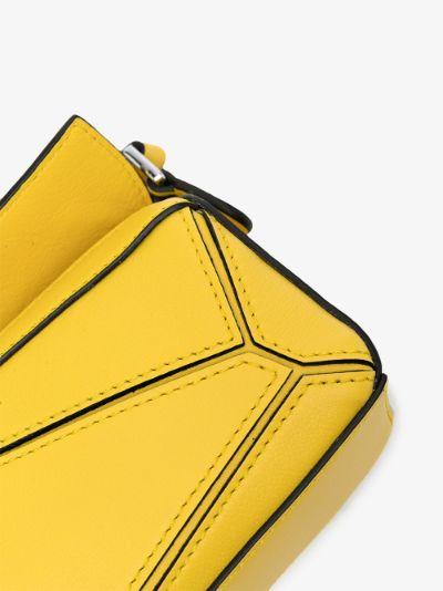 Yellow Puzzle Nano Leather Mini Bag