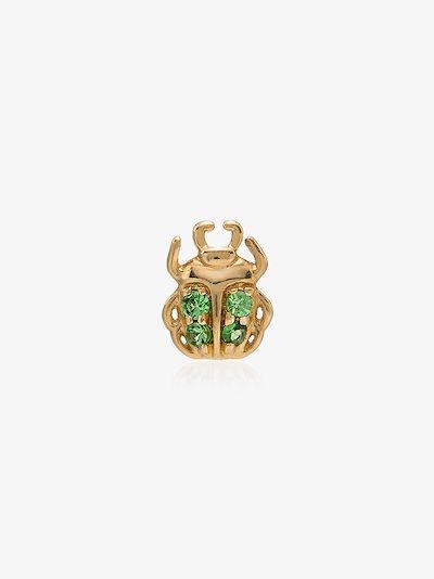 18K gold beetle charm necklace