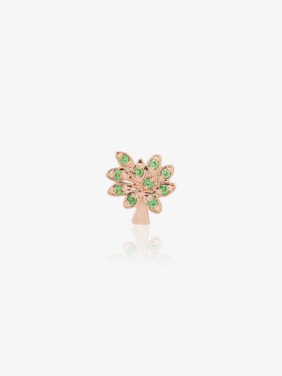 18K Rose Gold Family Tree Tsavorite charm