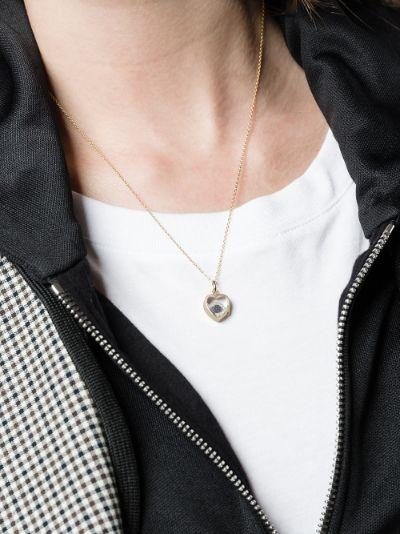 18K white gold Evil Eye diamond and sapphire charm