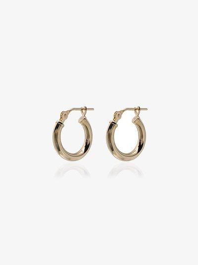 14K yellow gold Baby Chubbie Huggie hoop earrings