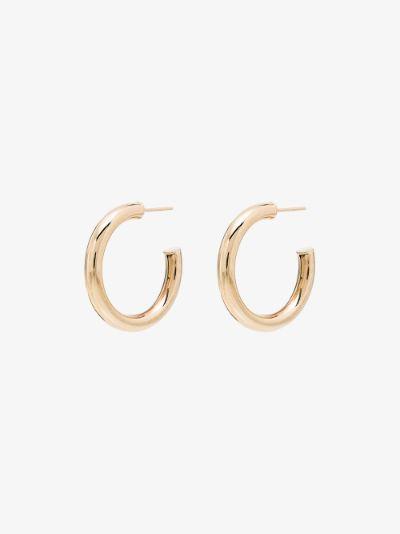 14K yellow gold XL Chubbie Huggie hoop earrings
