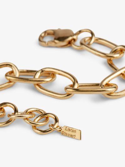 gold-plated Industrial XXL long link bracelet