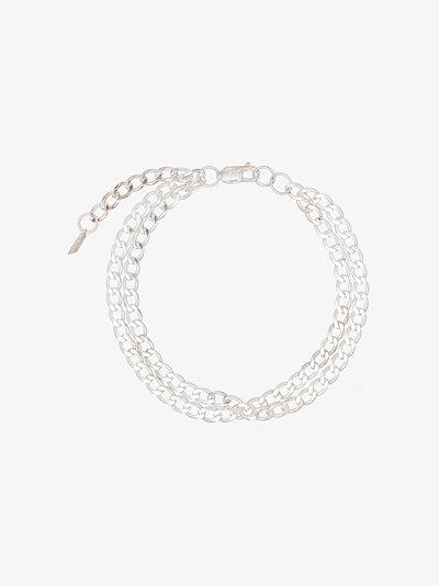 sterling silver Havana chain anklet