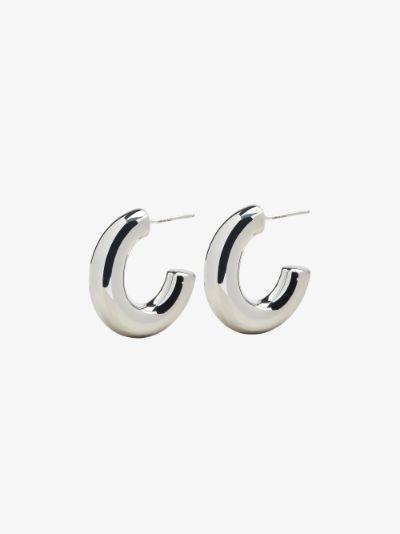 sterling silver Pompa medium hoop earrings